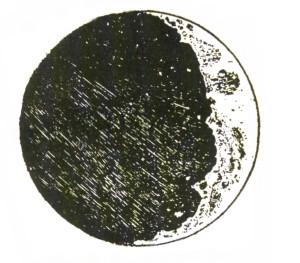 ガリレオの月のスケッチ