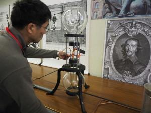 吉川が復元した空気ポンプ