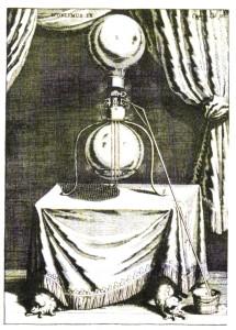 ゲーリケ『マグデブルクの新実験』にある〈知的な楽しみごとのための装置〉(松野2009p.13)